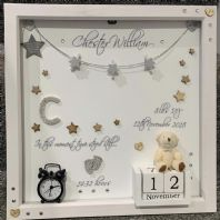 Personalised Gift Deep Box Frame No Glass Photo Frame Girl Boy New Baby Keepsake